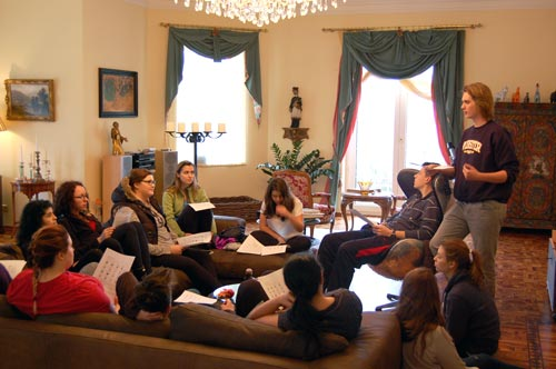 The retreat helped freshmen students prepare to adopt leadership roles on campus.