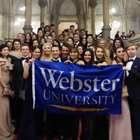 Vienna Students Practice Waltz, Head to Ball of Sciences