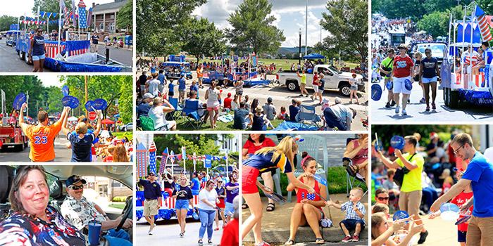 Webster University staff, students and alumni represent in the Community Days Parade