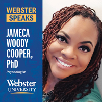 Jameca Woody Cooper addresses racism and mental health on Webster Speaks