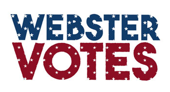 The logo for the Webster Votes project