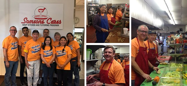 Scenes from Webster Irvine students, faculty and staff at Someone Cares Soup Kitchen