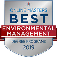 Webster Named a Top Online Master's Program in Environmental Management for 2019