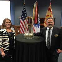 Snapshot: 2016 World Series Trophy at Fort Leavenworth